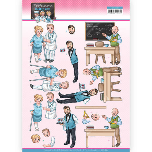 3D Cutting Sheet - Yvonne Creations - Bubbly Girls Professions - Male Professions