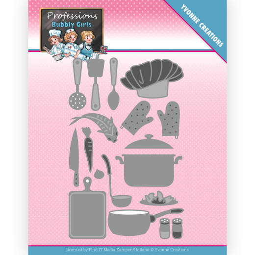 Dies - Yvonne Creations - Bubbly Girls - Professions - Kitchen Staff