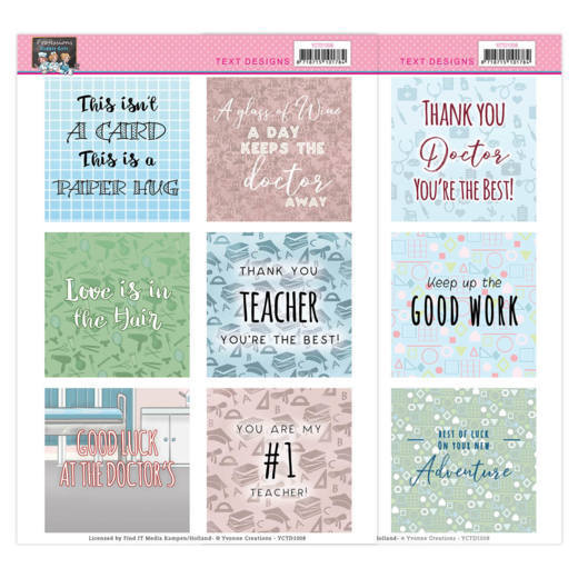 Text Designs -Yvonne Creations - Bubbly Girls - Professions