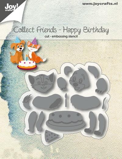 Joy! crafts - Die - Collect Friends - Happy Birthday - 6002/1185