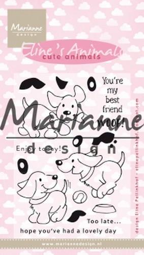 Marianne Design clear stamps Hondjes Stempel-set