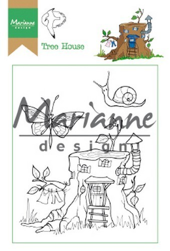 Marianne D Clear Stamp Hetty's Tree house HT1642