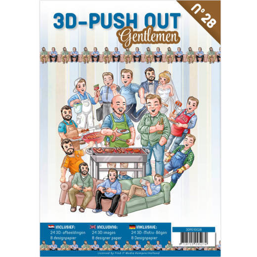 3D Push Out book 28 - Gentlemen