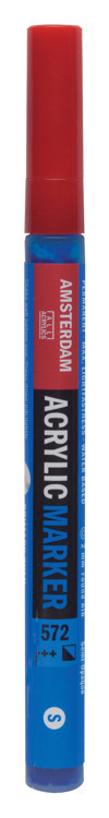 Amsterdam Markers 2 mm Primaircyaan 572