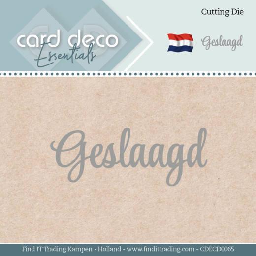 Card Deco Essentials - Dies - Geslaagd