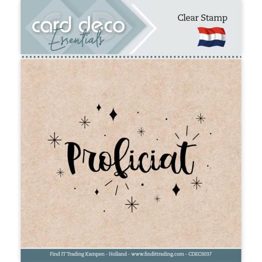 Card Deco Essentials - Clear Stamps - Proficiat
