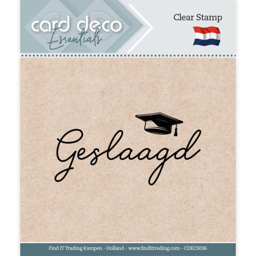 Card Deco Essentials - Clear Stamps - Geslaagd