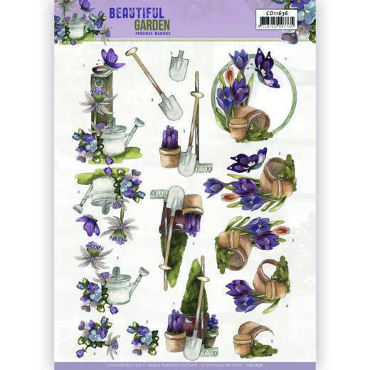 3D Cutting Sheet - Precious Marieke - Beautiful Garden - Butterfly