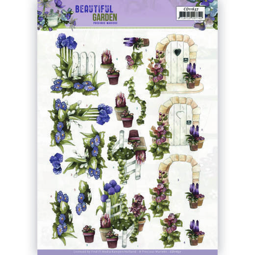 3D Cutting Sheet - Precious Marieke - Beautiful Garden - Allium