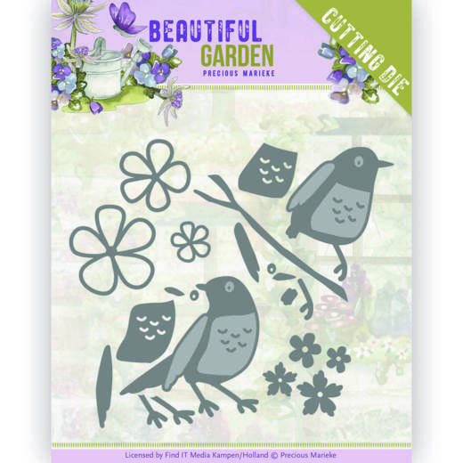 Dies - Precious Marieke - Beautiful Garden - Birds