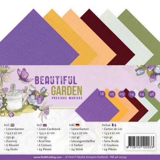 Linen Cardstock Pack - 4K - Precious Marieke - Beautiful Garden