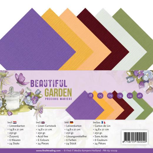 Linen Cardstock Pack - A5 - Precious Marieke - Beautiful Garden