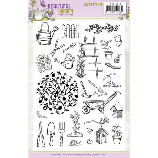 Clear Stamps - Precious Marieke - Beautiful Garden