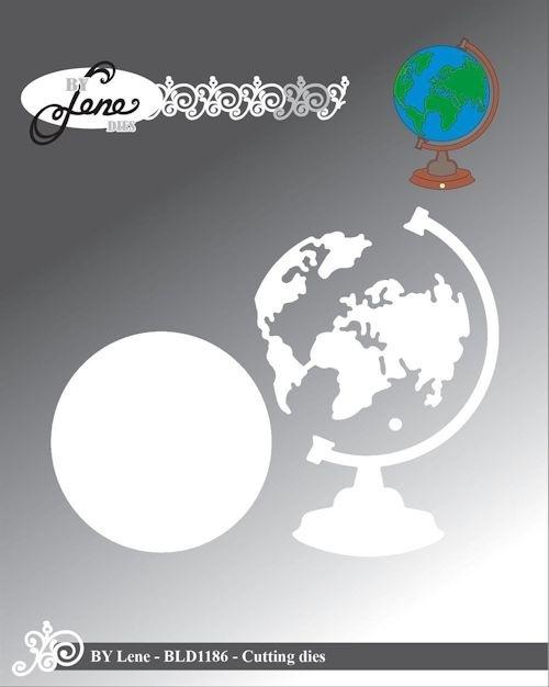 By Lene By Lene die globe 7,7 x 5,5 cm