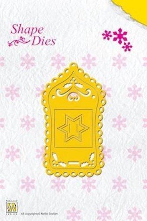SD014 Nellie Snellen - Shape Dies - Christmas Label
