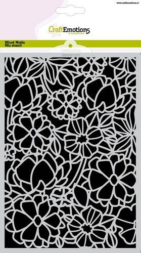CraftEmotions Mask stencil bloemenmix A5 A5 (05-21)