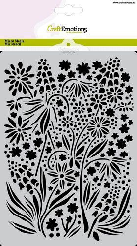 CraftEmotions Mask stencil summer flowers A5 A5 GB (05-21)