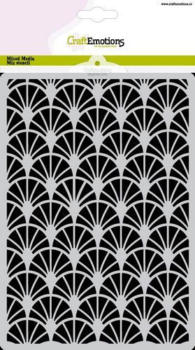 CraftEmotions Mask stencil sierbogen Art Deco A5 A5 (05-21)