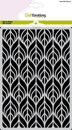 CraftEmotions Mask stencil bladeren Art Deco A5 A5 (05-21)