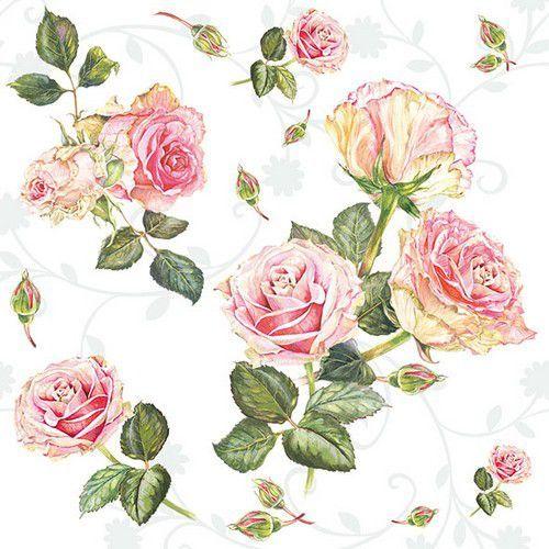 CraftEmotions servetten 5st - Rozen roze 33x33cm Ambiente 13313000 (04-21)