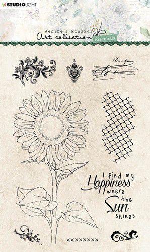 Studio Light Clear Stamp Jenine's Essentials Sunflower nr.66 JMA-ES-STAMP66 A6 (05-21)