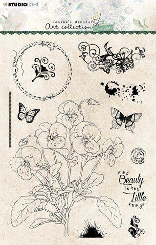 Studio Light Clear Stamp Jenine's Essentials Violets nr.67 JMA-ES-STAMP67 A5 (05-21)