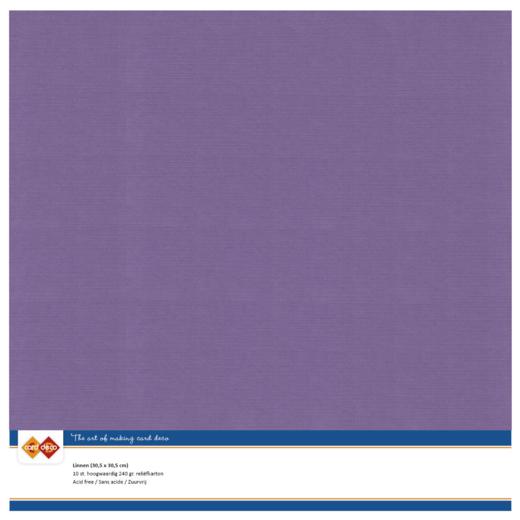 Linen Cardstock - SC - Grape
