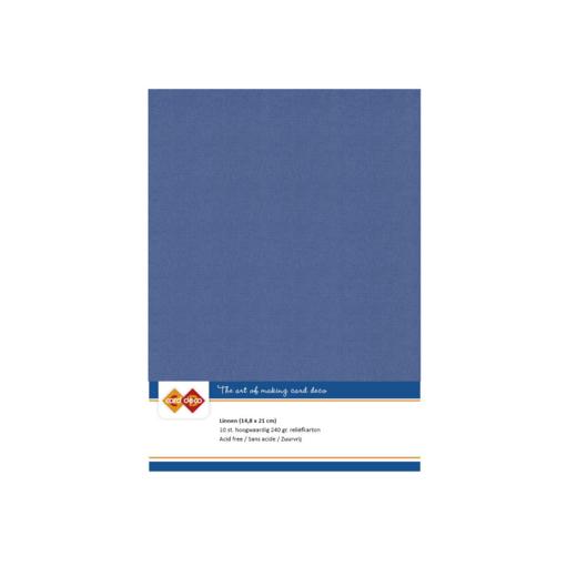 Linen Cardstock - A5 - Jeans