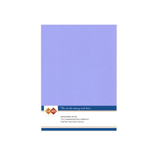 Linen Cardstock - A5 - Lavender