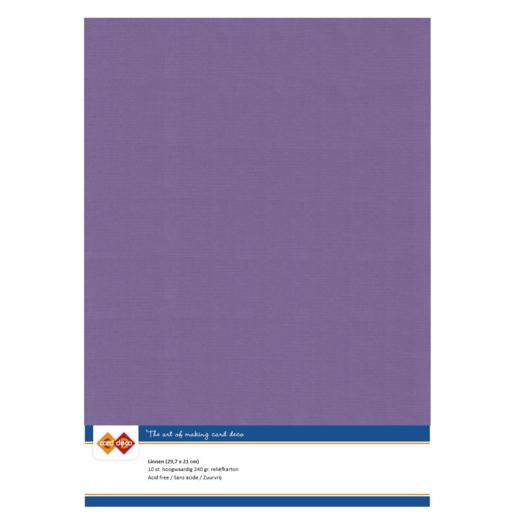 Linen Cardstock - A4 - Grape