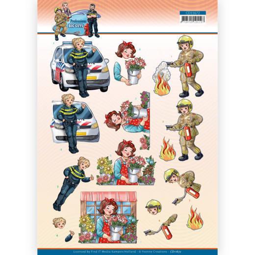 3D Cutting Sheet - Yvonne Creations - Big Guys Professions - Female Professions