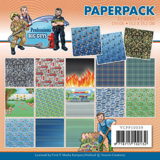 Paperpack - Yvonne Creations - Big Guys Professions