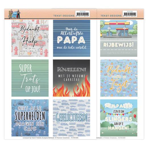 Tekst Designs - Yvonne Creations - Big Guys Professions (NL)