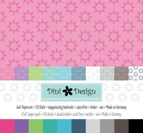 Dini Design 6x6 Paper Pack 20 vl - Anker 15x15 cm #4009 (05-21)