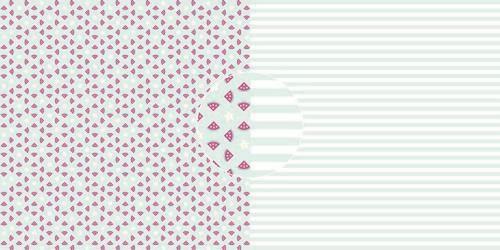 Dini Design Scrappapier 10 vl Watermeloenen - strepen 30,5x30,5cm #4020 (05-21)
