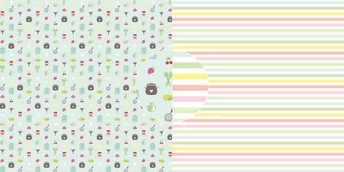 Dini Design Scrappapier 10 vl Jam - strepen 30,5x30,5cm #4022 (05-21)