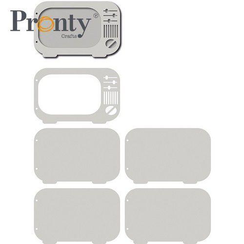 Pronty Grey Chipboard Retro TV 4920.01.017 206x133mm (05-21)