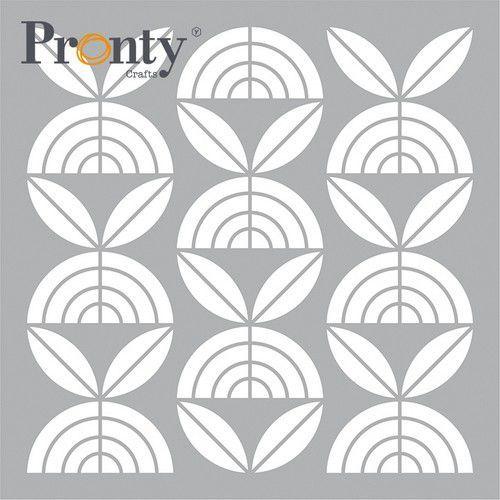 Pronty Mask stencil Retro Pattern Bloemen 470.801.057 15x15cm (05-21)
