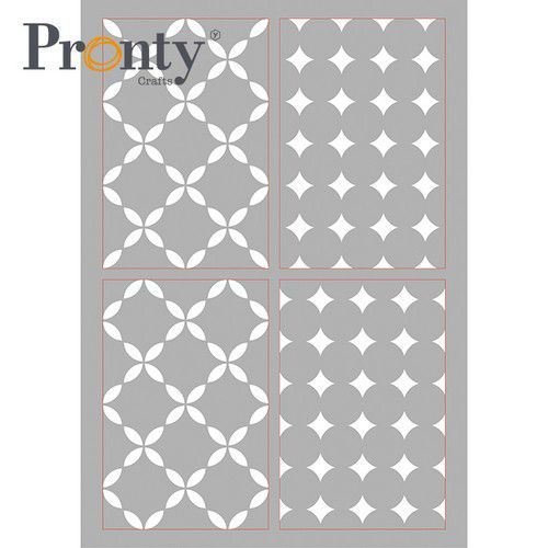 Pronty Mask stencil Retro Pattern 4 lagen 470.803.080 A4 (05-21)