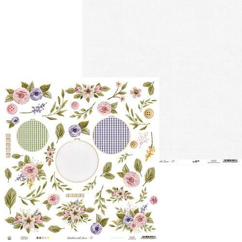 Piatek13 - Paper Stitched with love 07 P13-SWL-07 12x12 (05-21)