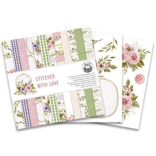 Piatek13 - Paper pad Stitched with love, 6x6'' P13-SWL-09 (05-21)