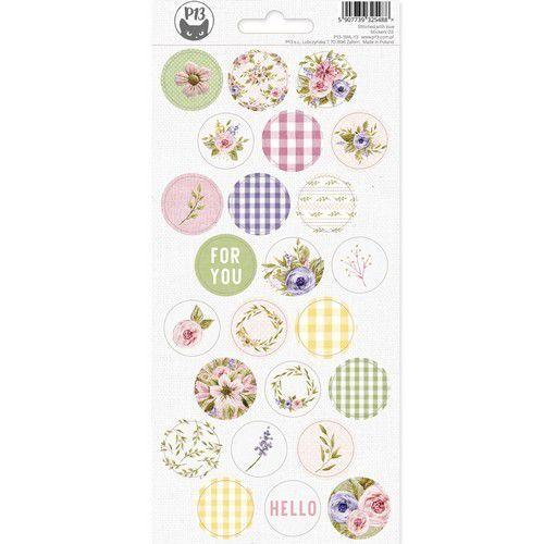 Piatek13 - Sticker sheet Stitched with love 03 P13-SWL-13 10,5x23cm (05-21)