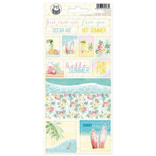Piatek13 - Sticker sheet Summer vibes 02 P13-VIB-12 10,5x23cm (05-21)