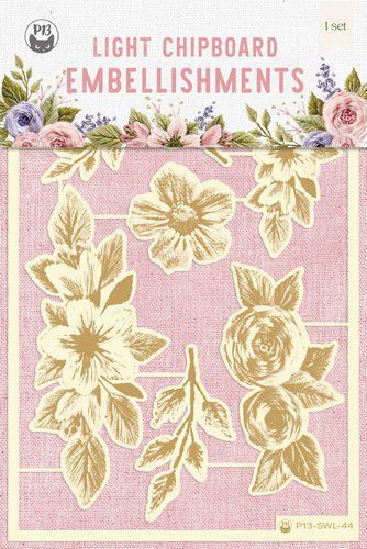 Piatek13 - Chipboard embellishments Stitched with love 01 P13-SWL-44 10x15cm (05-21)