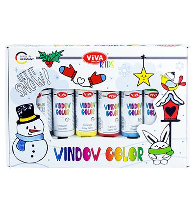 Window Color Set Kids, Let It Snow