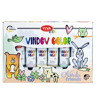 Window Color Set Kids, Nordic Friends
