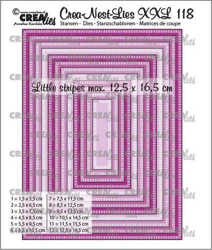 Crealies Crea-nest-dies XXL Rechthoeken CLNestXXL118 12,5x16,5cm (05-21)