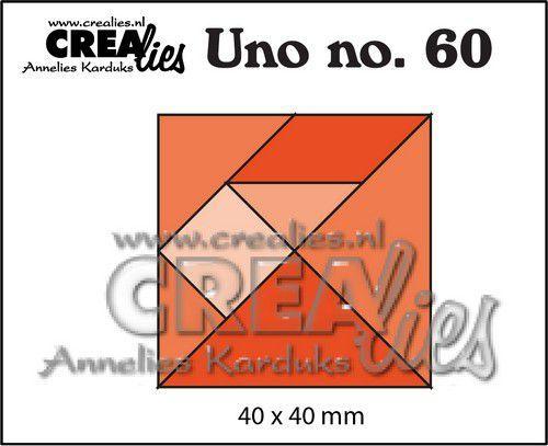 Crealies Uno nr. 60  Tangram CLUno60 40x40mm (05-21)