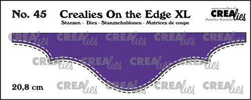 Crealies On the edge XL Die stans no 45 CLOTEXL45 20,8cm (05-21)