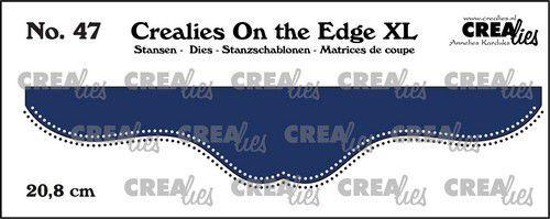 Crealies On the edge XL Die stans no 47 CLOTEXL47 20,8cm (05-21)